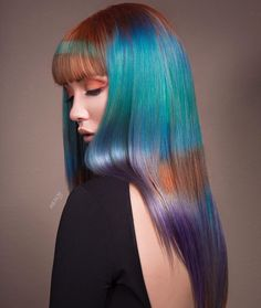 Hair by - Neal says, Colors of the Wind One of the shots from my photo shoot for contest! Shine lines for days! Thank you to and for sharing their passion with me Rainbow Hair, Fashion Colours, Balayage Hair, Color Trends, Hair Trends, Hair Makeup, Hair Color, Photoshoot, Long Hair Styles