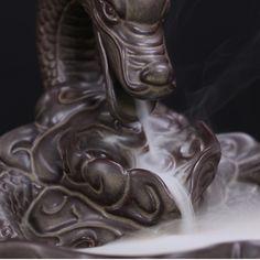 Chinois Céramique Artisanat Carp Changer La À Dragon Fumée Reflux Encensoir Bouddhiste Fournitures Cône Encens Brûleur dans D'encens et Encens Brûleurs de Maison & Jardin sur AliExpress.com   Alibaba Group