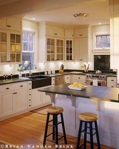 window above stove. | Design: John Cole, Architect. Brian Vanden Brink, photographer.