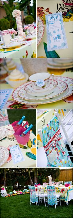 Alice in Wonderland themed bridal shower