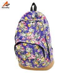 $9.94 (Buy here: https://alitems.com/g/1e8d114494ebda23ff8b16525dc3e8/?i=5&ulp=https%3A%2F%2Fwww.aliexpress.com%2Fitem%2FFloral-Printing-Backpack-Retro-Women-s-Canvas-Travel-Rucksack-Supplies-Portfolios-School-Bag-Satchel-Backpack-For%2F32701317525.html ) Ausuky Brand 2016 New Arrival Floral Printed Canvas Backpack Fashion Girls' School Bag Flowers Women rucksack 45 for just $9.94