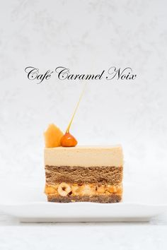 Caramel Coffee Mousse & Crunchy Caramel Hazelnuts - I wish this wasn't gelatin :( ... Maybe a veghead mousse substitute...