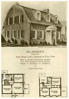2 story dutch colonial | Eplans Colonial House Plan - Four Bedroom ...