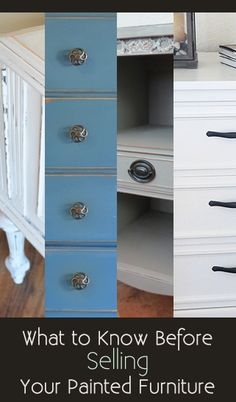 What To Know Before Selling Your Painted Furniture