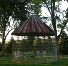 Our Corn Crib, My Favorite Place To Relax By The Fire.