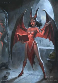 Demon girl art hot female demons succubus fantasy in