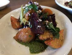 Roasted beet salad from Queen Anne Beerhall in Seattle.