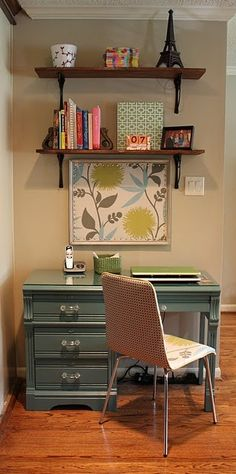 This is most like what the desk side of the foyer would look like. I like it a lot.
