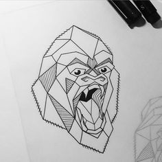 Geometric gorilla #blackwork #linework #geometry #blkwrk #edinburgh #love #gorilla #geometricgorilla #tattooart #tattooflash #iblackwork #blackart #wildlife #penandink #sketch #blackworkers #onlyblackart #lineslineslines #blxckink #WordofArtists