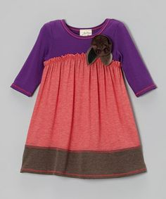Take a look at this Coral & Purple Pretty Petal Dress - Toddler & Girls by Vanilla Crème on #zulily today!