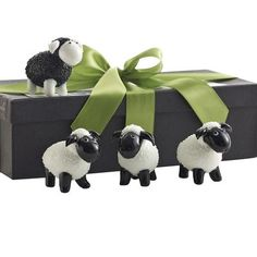 Glass Sheep Figurines - Set of 4 for spring