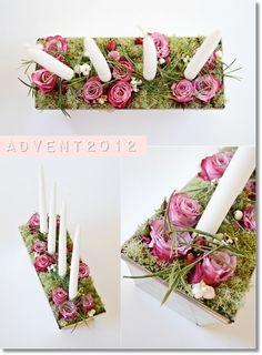 adventsljusstake blommor, annorlunda adventssljusstake, modern adventsljusstake, adventsljusstake rosor, advent candles flowers, trendy adve...