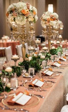 Photographer: Bridgette Marie Photography; Wedding reception centerpiece idea