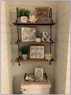 Cozy Bathroom, Small Bathroom Storage, Bathroom Design Small, Bathroom Organization, Organization Ideas, Bathroom Designs, Storage Ideas, Wall Storage, Bathroom Ideas