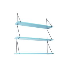 molly meg set of 3 shelves, aruba blue