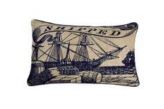 Image detail for -Thomas Paul Shipped Seafarer Jute Pillow Nautical Pillows, Nautical Gifts, Modern Throw Pillows, Nautical Theme, Accent Pillows, Floor Pillows, Decorative Throw Pillows, Seafarer, Joss And Main