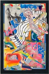 From Heritage Auctions, Frank Stella, The Candles Lithograph, screenprint, and collage in colors on white Saunders mould-made paper with natural ga… Frank Stella Art, Abstract Expressionism, Abstract Art, Post Painterly Abstraction, National Gallery Of Art, Elementary Art, New Art, Sculpture Art, Art Projects