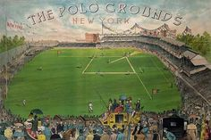 Embrace nostalgia for times gone by when you decorate your den or man cave with Global Gallery New York Polo Grounds Wall Art. This vintage-inspired giclee on canvas is museum wrapped and ready to enjoy. Baseball Park, Giants Baseball, Baseball Photos, Baseball Games, Polo Grounds, Sports Stadium, New York Giants, Aerial View, 5 D
