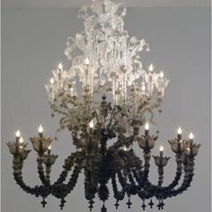 ombre chandelier : home decor : lighting