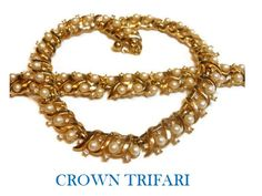 Crown Trifari necklace and bracelet set by maggiescornerstore