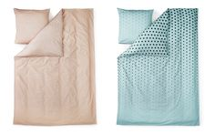 Plus Bed linen in nude | Minimalistic designer bed linen in modern print