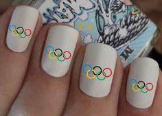 Nail Wraps Nail Art Olympic Rings Water Transfers Decal Natural / False Nails