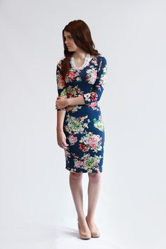 The Courtney Dress from Brooke & Em Clothing. Floral bodycon dress. brookeandemclothing.com