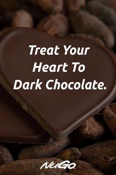 Because we all know your heart loves Dark Chocolate. Healthy Dark Chocolate, Chocolate Protein Bars, Chocolate Making, Cacao Chocolate, I Love Chocolate, How To Make Chocolate, Chocolate Covered, Chocolate Lovers Quotes, Bakery Quotes
