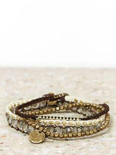 AEO Bling Leather Bracelet