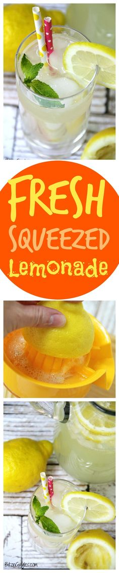 Fresh Squeezed Lemonade - There's nothing like fresh squeezed lemonade! This simple recipe comes together in no time at all and produces delicious results. It reminds me of the wonderful lemonade I get at our hometown fair! #YouBeTheJudge #DiGiorno #CleverGirls #ad