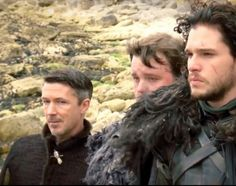 Petyr Baelish, Jon Snow and Samwell Tarly for the Vanity Fair April 2014 Game of Thrones shoot.