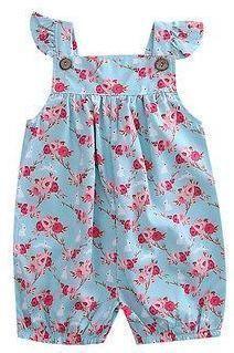 Blue Floral Baby Girl Summer Jumper