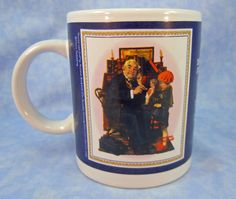 "Norman Rockwell Mug ""The Doctor and the Doll"" from Saturday Evening Post Cover- Mint Condition by RichardsRarityRealm on Etsy"