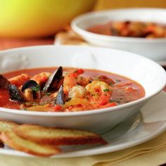 Spicy Seafood Stew. Cayenne pepper and chorizo sausage add a lively kick to this seafood stew.