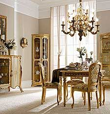 Italian Luxury Dining Room Wood Furniture. Andrea Fanfani Italy