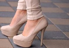 beige pumps
