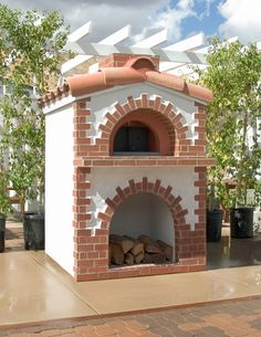 Outdoor Pizza Oven - I'd love it outside the cantina I want to build :) Diy Pizza Oven, Pizza Oven Outdoor, Outdoor Cooking, Pizza Ovens, Diy Outdoor Kitchen, Outdoor Rooms, Outdoor Living, Wood Oven, Wood Fired Oven
