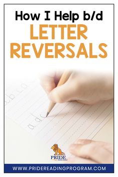This is my trick for helping with b/d letter reversal and it works every time! #teach #kindergarten #dyslexia #dysgraphia #firstgrade #homeschool #reversals #alphabet #sped #ortongillingham #letters via @pridereading
