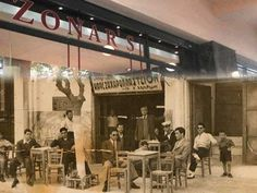 Almost all historic cafés in Athens are today gone. These places were more than mere cafés; they were meeting places for artists, politicians and authors for