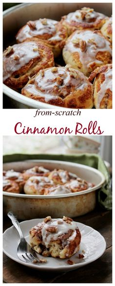Comforting and decadent Cinnamon Rolls made from scratch!