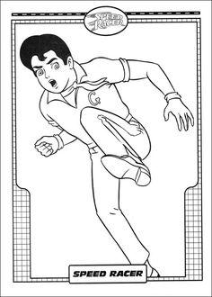 Dibujos para Colorear Speed Racer 5