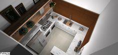 Projeto de cozinha com pegada retrô.