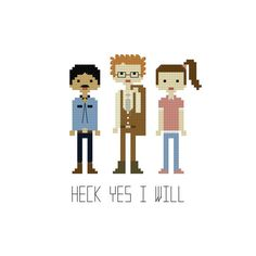 Napoleon Dynamite Cross Stitch Pattern by YouMakeMeSewHappy, $2.99
