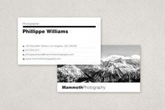 Modern Photographer's Business Card template design from Inkd