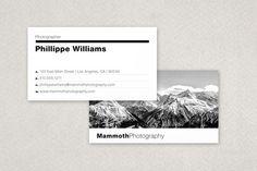 Modern Photographer's Business Card template design from Inkd