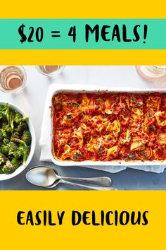 Pay no more than $20 for 4 – quick and delicious pasta in the dinner! Click on the pin now and get $35 off your first order!