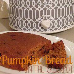 Yummy Crockpot Chocolate Chip Pumpkin Bread