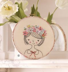 Free Project: Flower Girl Hoop - SCC Mag ...... Wrap Washi tape around the side of the Embroidery Hoop