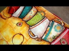 ▶ Art journal : Take life one cup at a time - YouTube