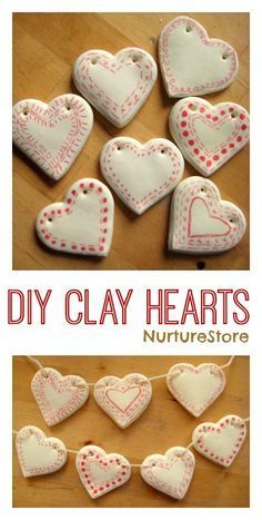 How to make DIY clay hearts decorations - so pretty! | NurtureStore :: inspiration for kids
